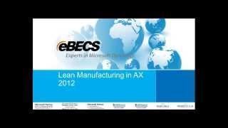 Lean Manufacturing in Dynamics AX