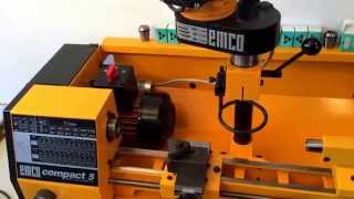 getlinkyoutube.com-For sale:  Emco Maier Compact 5 Lathe with Milling Attachement