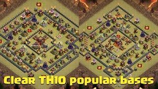 "getlinkyoutube.com-Clash Of Clans | 3 Star Internet TH10 ""Ring"" Base: Gova (Mass Valkyries)"