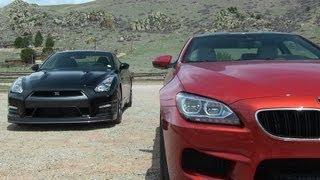 getlinkyoutube.com-2014 Nissan GT-R vs. BMW M6 0-60 MPH Mile High Mashup Review