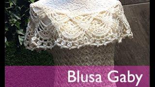 getlinkyoutube.com-TEJE BLUSA GABY - Crochet Fácil y Rápido - Para Primavera Verano