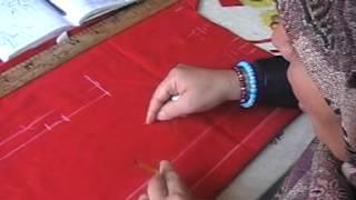 دروس تفصيل -4-  رسم الكورساج +الكول شال 2- امام.