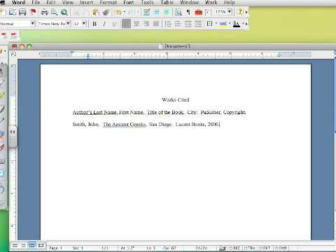 How to create a Works Cited page in MLA 6 - Part I