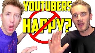 Forced Positivity: Are PewDiePie, Casey Neistat & Philip DeFranco NOT Happy?