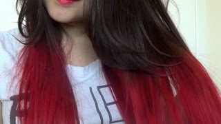 getlinkyoutube.com-How To | Red Dip Dye Hair