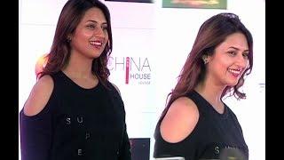 Divyanka Tripathi Hot In Short Dress At Kumkum Bhagya 1000 Episode Celebration