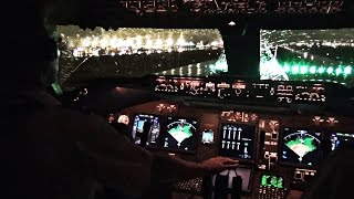 getlinkyoutube.com-Boeing 747-400 Miami Take-off in Heavy Rain - Cockpit View