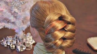 getlinkyoutube.com-Причёски на основе обёрнутых хвостов - очень просто! - Hairstyles by REM
