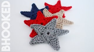 getlinkyoutube.com-Crochet Star Applique