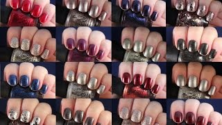 getlinkyoutube.com-OPI Starlight Collection Holiday 2015 | Live Application Review