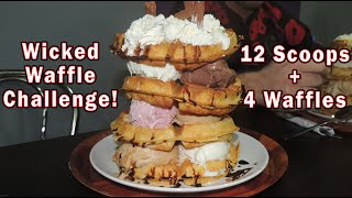 getlinkyoutube.com-WAFFLE ICE CREAM SANDWICH CHALLENGE!!
