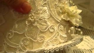 getlinkyoutube.com-Wedding Lace Cake Box