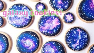 getlinkyoutube.com-How To Decorate Galaxy Cookies With Royal Icing!