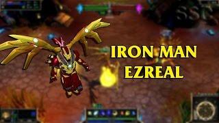 getlinkyoutube.com-Iron Man Ezreal LoL Custom Skin ShowCase