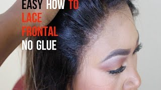 EASY How To Sew On A Lace Frontal | NO GLUE | NO HAIR OUT