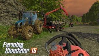 getlinkyoutube.com-Farming Simulator 15 - Gameplay #4: Logging with Husqvarna 550