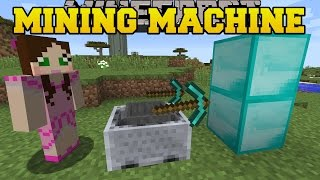 getlinkyoutube.com-Minecraft: MINING MACHINE CHALLENGE! (ORE & BLOCK GRABBING MACHINE) Custom Command