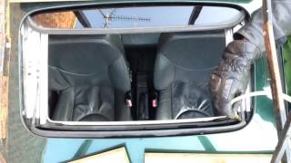 How to fix a leaking sunroof. (DO NOT USE SILICONE!)