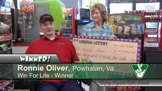 getlinkyoutube.com-Powhatan man wins $1,000 per week for life