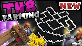 getlinkyoutube.com-Clash of Clans   TH8 Farming Base With BOMB TOWER 2016   Anti Barch   TH9 TH 9