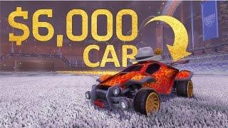 getlinkyoutube.com-$6000+ MOST EXPENSIVE CAR IN ROCKET LEAGUE!!!