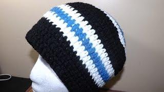 getlinkyoutube.com-Crochet Gorro de Adulto (Masculino) - con Ruby Stedman