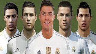 getlinkyoutube.com-Cristiano RONALDO from FIFA 04 to FIFA 16 (vs Real Face Comparison)