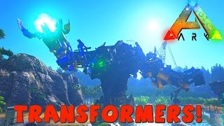 TRANSFORMERS | ARK Survival Evolved Mod | Devastator Grinder Mod | Super Fast Crafting!