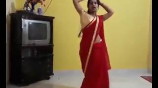 Hot aunty dance in RED saree |bhojpuri song |