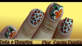 getlinkyoutube.com-Unhas Decoradas com Flor Carga Dupla Manual Bela e Simples Nail Art