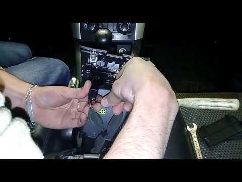 Регулировка ручного тормоза (ручник). Как разобрать подлокотник на каптиве.