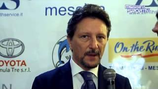 Il presidente della FIP Sicilia Antonio Rescifina alla presentazione del Gruppo Zenith Messina