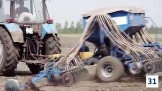 Регулировка глубины заделки семян на сеялке С-6ПМ Быстрица