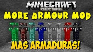 getlinkyoutube.com-MORE ARMOUR MOD, MAS ARMADURAS MOD PARA MINECRAFT PE 0.14.0 | Mods Para Minecraft PE 0.14.0