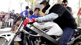 getlinkyoutube.com-eko kodok  kawasaki ninja Drag bike indonesia | legend joki indonesia
