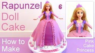 getlinkyoutube.com-Tangled Rapunzel Cake How to Make a Disney Princess Rapunzel Doll Cake