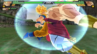 getlinkyoutube.com-Goku SSJ and Broly Fusion | Brokku vs Majin Vegeta  DBZ Budokai Tenkaichi 3 (MOD)
