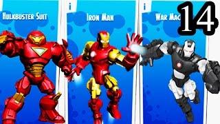 getlinkyoutube.com-Mix+Smash Marvel Super Hero Mashers Superheroic | Iron Man, Black Iron Man, Huldbuster Suit Part 14