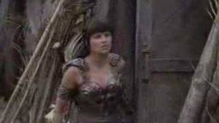 Xena Gabrielle - Lucy Renee - all behind scenes/bloopers/com