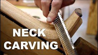 getlinkyoutube.com-Guitar Neck Carving