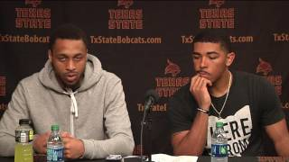 Texas State MBB Postgame Press Conference vs. St. Peter's - Players