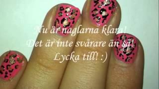 getlinkyoutube.com-Hur man gör naglar med leopard mönster