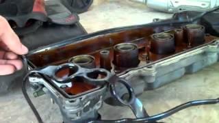 getlinkyoutube.com-2003 Toyota valve cover gasket part 2