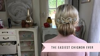 getlinkyoutube.com-How To: Make An Easy Chignon By SweetHearts Hair Design