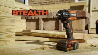 getlinkyoutube.com-Ridgid StealthForce 18v Li-ion brushless 3-speed oil pulse driver