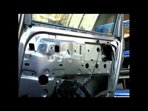 Как снять извлечь заменить стекло задней двери RENAULT SCENIC(2005)demontaz zamiana szyby drzwi tyl!