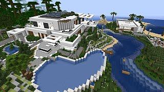 getlinkyoutube.com-Minecraft Maison moderne de plage par Makapuchii