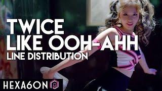 getlinkyoutube.com-Twice - Like OOH-AHH Line Distribution (Color Coded)