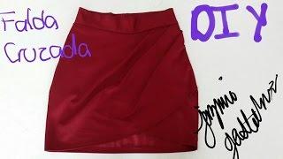 getlinkyoutube.com-Falda Drapeada Asimetrica DIY How To Make a Draped Skirt