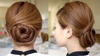 getlinkyoutube.com-Sophisticated Twisting Bun Hair Tutorial